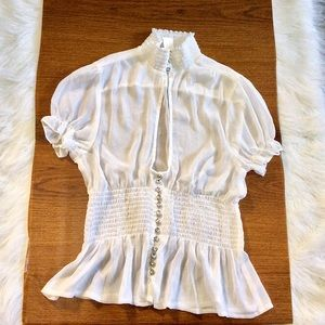 White Diamond Blouse